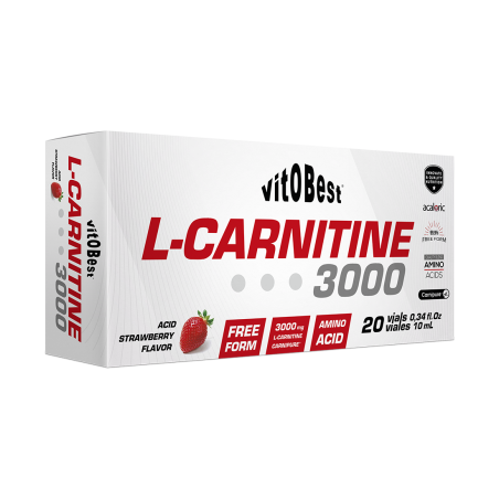 L-CARNITINA 3000 MG 20 VIALES DE 10 ML